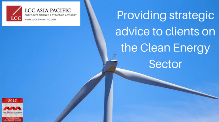 LCC Asia Pacific provides strategic advice in the Clean Energy Sector